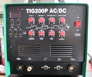 HST Maquina de soldadura inverter, para metal, TIG200P, 200 amperios, WIG, TIG, CA/CC: Amazon.es: Industria, empresas y ciencia