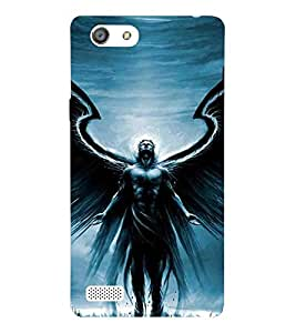 Cartoon, Black, Cartoon and Animation, Angel, Printed Designer Back Case Cover for Oppo Neo 7 :: Oppo A33