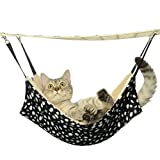 kiwitatá Cat Hammock Polka Dot Pet Cage Hanging Hammock Warm Soft Pet Sleepy Bed Hammock for Rabbit Kitten Puppy Small Dogs
