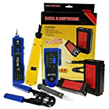 Non-contact Network Cable Tester Wire Tracker Voltage Detector Punch Tool Cable Crimper RJ45 RJ11 Cable Diagnosis Tools