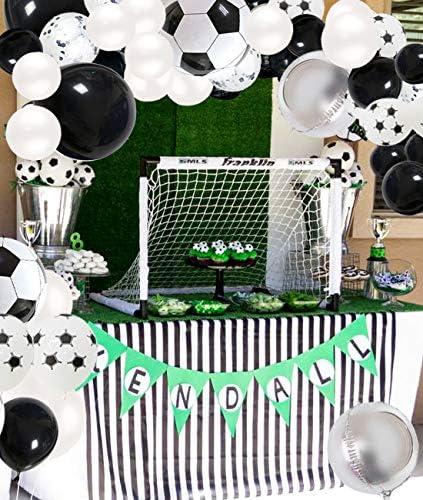 パーティー飾りセット バルーンアーチ 男の子 サッカー風船 子供の日 可愛い お祝い飾 ベビーシャワー 超豪華