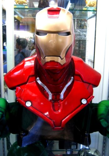 Custom Made Iron Man Suit (Iron Man 1:1 Bust Custom Painted Model Display Animation Art Hero Figure Toy Hobbies)