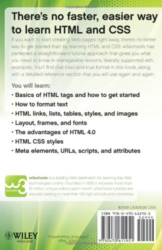 Learn HTML and CSS with w3Schools: Amazon.es: W3Schools: Libros en idiomas extranjeros