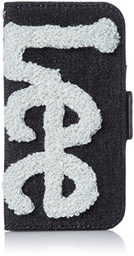 囚人証明明るくする[リー] iphone ケース デニム×Leeロゴもこもこサガラ刺繍 手帳型 iPhone8/7/6s/6対応 パッケージ入り 320-340