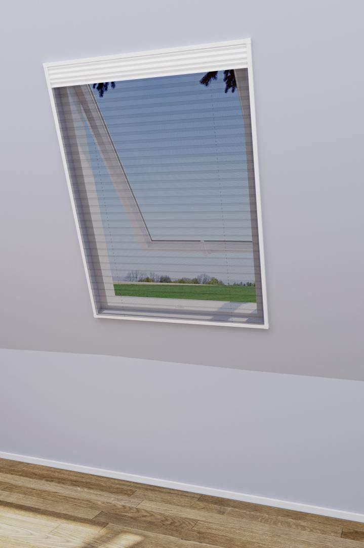 WIP Insektenschutz und Sonnenschutz-Plissee f/ür Dachfenster 113x160cm wei/ß