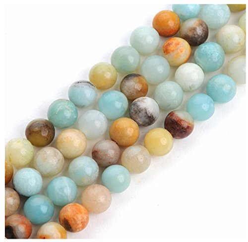 2 Strands Top Quality Natural Multi-Color Amazonite Gemstone 4mm Round Loose Gems Stone Beads for Jewelry Craft Making GF3-4