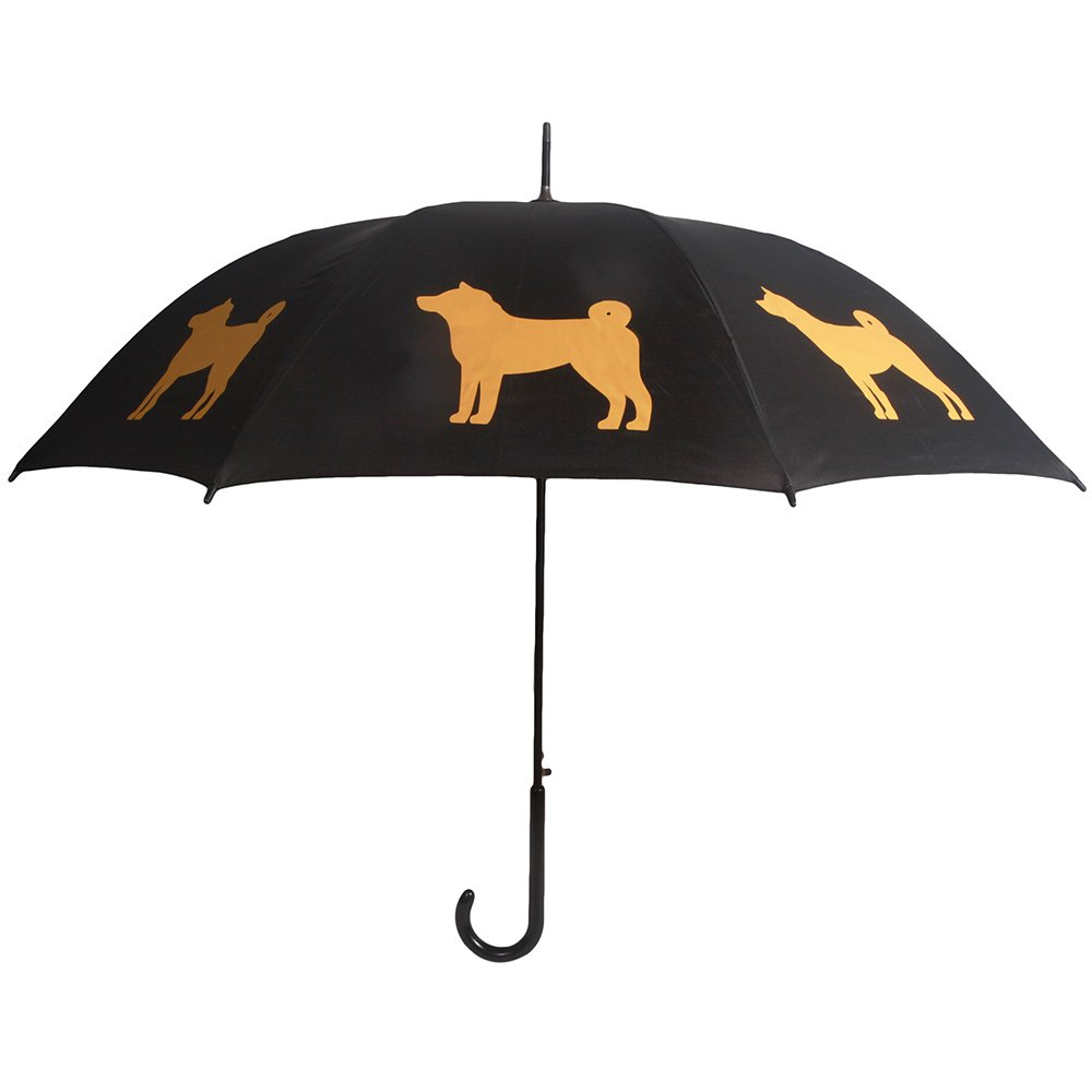 San Francisco Umbrella Co, Black/Gold Shiba Inu Umbrella 264