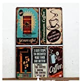 Premium Coffee Metal Tin Sign, Vintage Style Wall Ornament Coffee & Bar Decor,Size 8