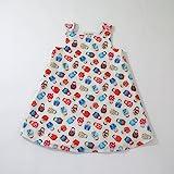 Russian Nesting Doll Girls Dress, Matryoshka, Toddler, Sundress, Pinafore, Casual, Handmade in the USA by April Scott Kids, Sizes 2T, 3T, 4T, 5, 6