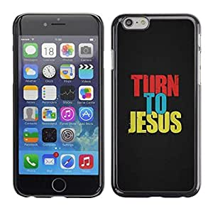 Mldierom Smartphone Protective Case Hard Shell Cover for Cellphone Iphone 6 BIBLE Turn To Jesus /