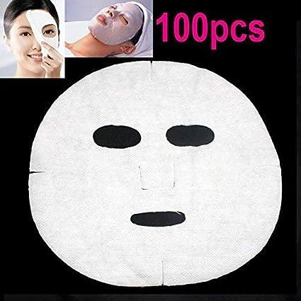 cosmetic no tejido facial máscara máscaras faciales – Hoja de papel de algodón: Amazon.es: Belleza