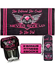 Real Gym Towels for Women; Microfiber Towel Large; Quick Dry Gym Towel with Rear Pocket to Secure Towel to Gym Benches; Workout Gear with Purpose and Functionality; Great Gym Accessories for Women
