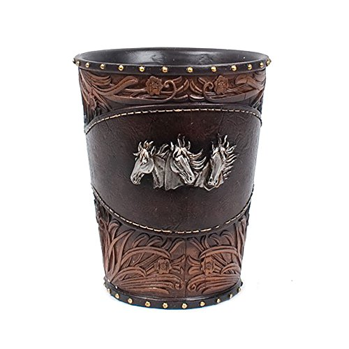- Colors of Rainbow Classic Western Waste Basket