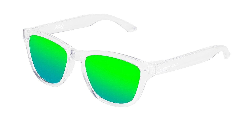 Hawkers One, Gafas de Sol Unisex Child, Transparente/Verde, 65 OHKTR12