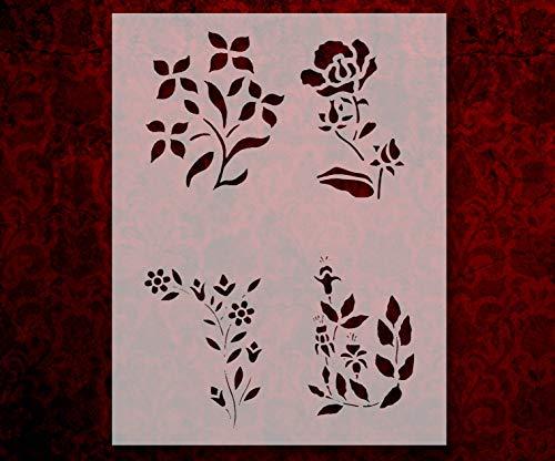 (Flowers Floral Roses Flower Pattern 3 8.5