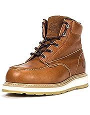 ROCKROOSTER Work Boots Men, Composite/Soft/Steel Toe Waterproof Safety Working Shoes