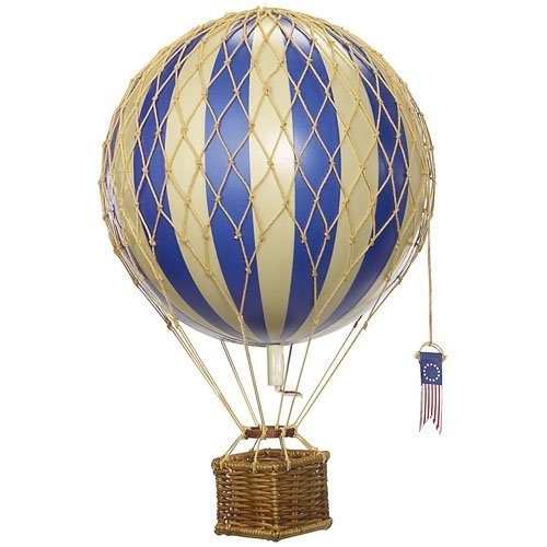 Travels Light Hot Air Balloon (Blue) - Authentic Models - Air Balloon Decorations Blue Hot Air Balloon