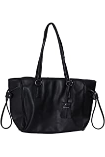 Giani Bernini Womens Turnlock Leather Dome Shoulder Handbag Black ...