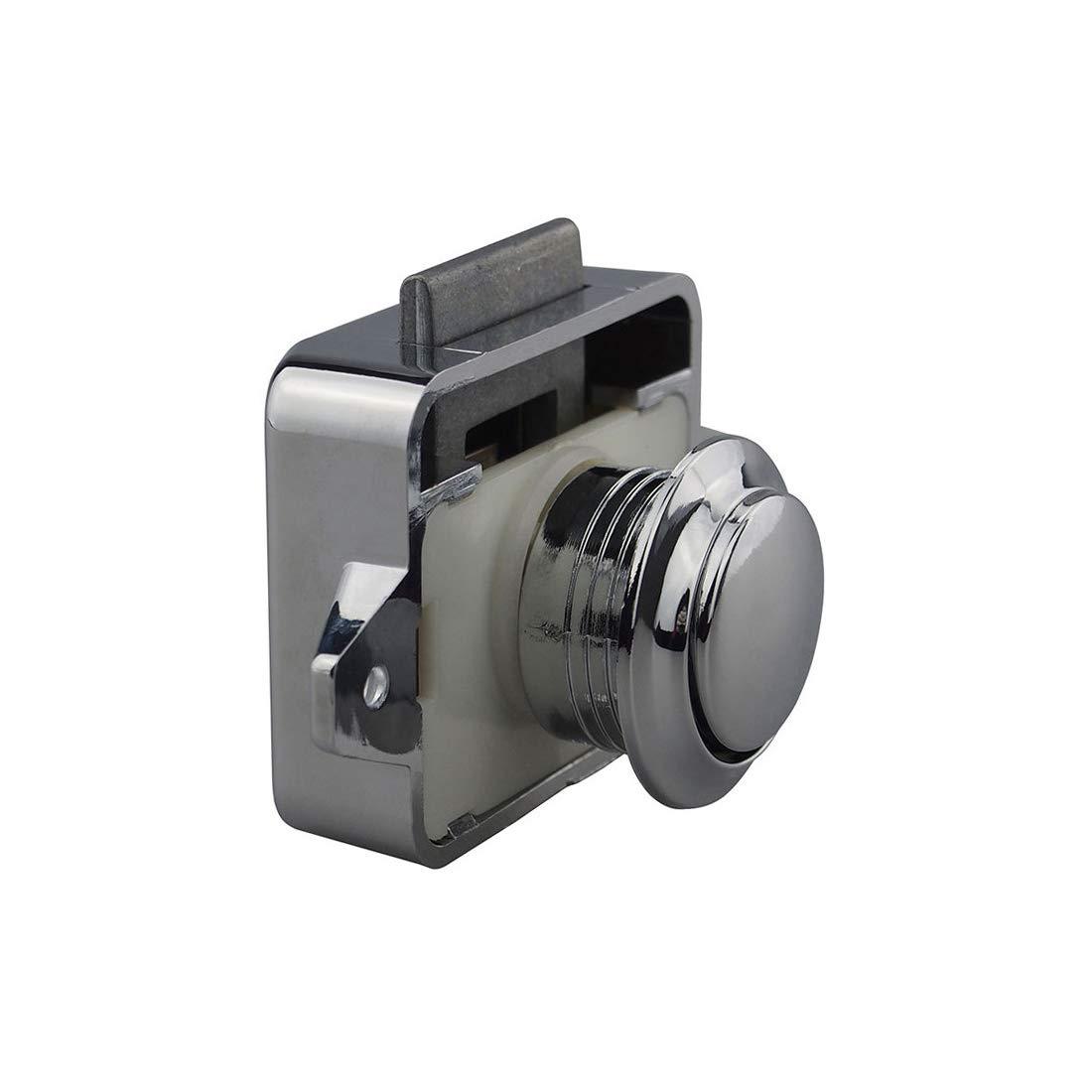BONA 5pcs/lot Plastic Push Button Cabinet Lock For Ambulance RV Caravan Motorhome Cupboard Hospital Furniture Locks Latch