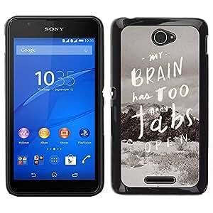 Dragon Case - FOR Sony Xperia E4 - Open the door in winter - Caja protectora de pl??stico duro de la cubierta Dise?¡Ào Slim Fit