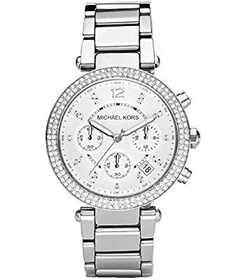 Michael Kors Womens Chronograph Parker Stainless Steel Bracelet Watch