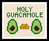 Counted Cross Stitch Pattern. Holy Guacamole