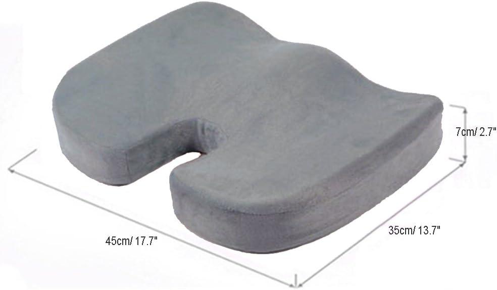 HomDSim Coussin dAssise de Massage Mousse /à M/émoire de Forme Coccyx Orthop/édique Pour Chaise Voiture Bureau Maison Si/èges