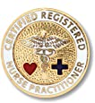 Prestige Medical Emblem Pin, Registered Nurse Practitioner (Certified)