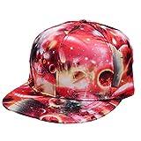 JPOJPO Baseball Cap Galaxy 3D Printed Adjustable Unisex Hip Hop Snapback Flatbrim Hats Sidereal