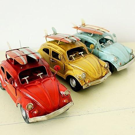 Beetle Metal de coche decoración con un hierro en tabla de surf Vintage: Amazon.es: Hogar