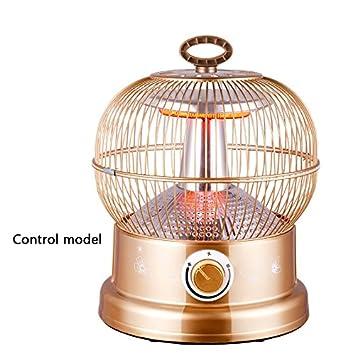 CAICOLORFUL Calentador de jaula de pájaros Estufa asada The Little Sun Home Escritorio Estufa de pájaros ...