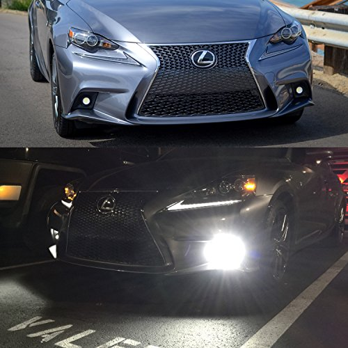 iJDMTOY Lexus F-Sport 15W High Power Projector LED Fog Light Kit For 2014-2016 Lexus IS200t IS250 IS300 IS350, 6000K Xenon White by iJDMTOY (Image #6)