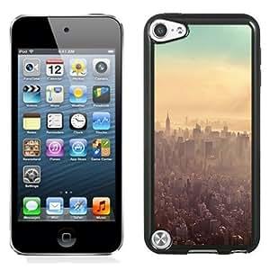 NEW Unique Custom Designed iPod Touch 5 Phone Case With New York City Sunrise Haze_Black Phone Case wangjiang maoyi by lolosakes