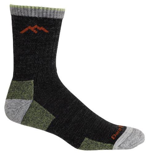 Darn Tough Vermont Men's Micro Crew Sock Cushion 1466,Lime,US L