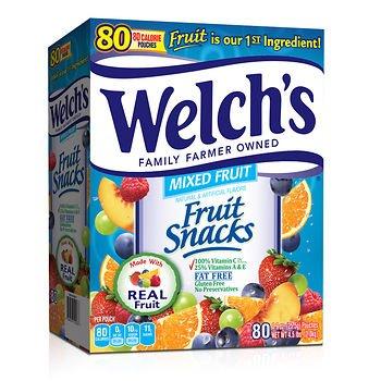 Welchs Fruit Snacks, (80 ct.) x2 .