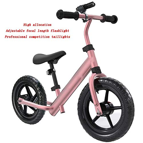 YUMEIGE Balance Bikes Kids' Balance Bikes for 2To6 Years Old Child Use Aluminum Alloy Glider Bike Adjustable Seat and Handlebar Toddler Walking Bicycle Multiple Colors Available (Color : Champagne)