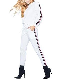 ShallGood Femme Casual Mode Sweat Shirt + Pantalon Col Rond Tops Leggings  Yoga Jogging Survêtement Ensemble fa3e5a50276