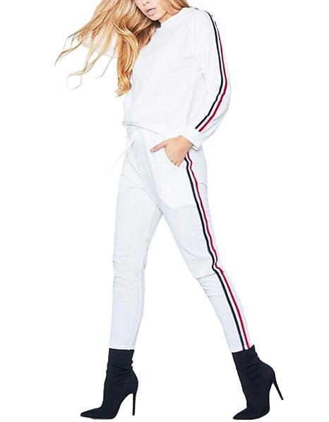 Mujer Chándales Basculador Sudadera Chándal Estar En Casa Casual Conjuntos  Deportivos Manga Larga Sweatshirt + Pantalones  Amazon.es  Ropa y accesorios c0b398e768428