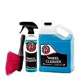 Adam's Deep Wheel Cleaner - Tough on Brake Dust, Gentle On Wheels - Changes Color As It Works (Bundle)
