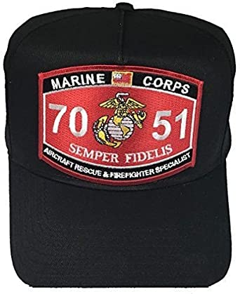 moon usmc marine corps 7051 aircraft rescue firefighter semper fidelis mos hat cfr premium quality dad