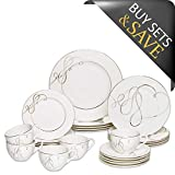 Mikasa Love Story 20-Piece Dinnerware Set, Service for 4