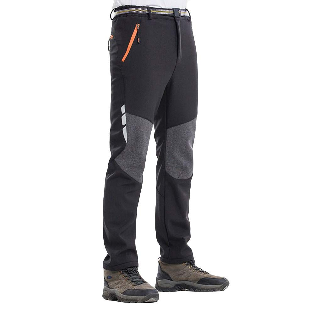 Men's Stain Resistant Enhanced Visibility Flat Front Work Pants Snowsports Ski Snow Pants by Danhjin