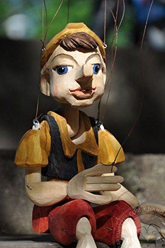 Pinocchio Hand Carved Marionette Size M (Pinocchio Marionette)
