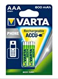 Varta Phone Accu AAA Micro Ni-Mh Akku  (2-er Pack, 800 mAh, geeignet für schnurlose Telefone)