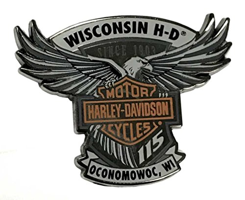Harley Davidson Refrigerator (Harley-Davidson 115th Anniversary Wisconsin H-D Magnet - Limited Edition 290085)