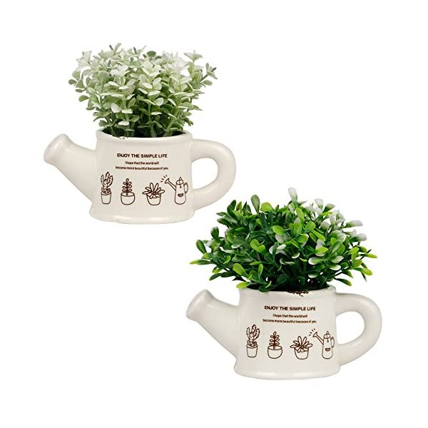 Artificial-Plants-Mini-Fake-Potted-Art-Plants-Indoor-Outdoor-Home-Garden-Office-Decor-Green-Set-of-2