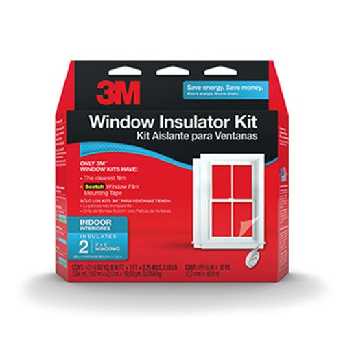 Plastic Window Insulation - 3M Indoor Insulator Kit, 2-Window