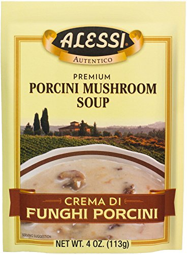Alessi Porcini Mushroom Soup, 4 Ounce (Pack of 6) (Pasta Dried)