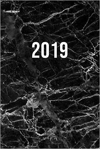2019: Ene - Dic Agenda Semanal | 152 X 229 Mm | 1 Semana En 2 Páginas | 52 Semanas Planificador Y Calendario | Mármol Negro por Otto Organizador epub