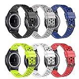 Molitec 20mm Quick Release Watch Band for Samsung Gear Sport/Garmin Vivoactive 3/Huawei Watch 2/Garmin Forerunner 645/Garmin Vivomove HR Smartwatch Breathable Soft Silicone